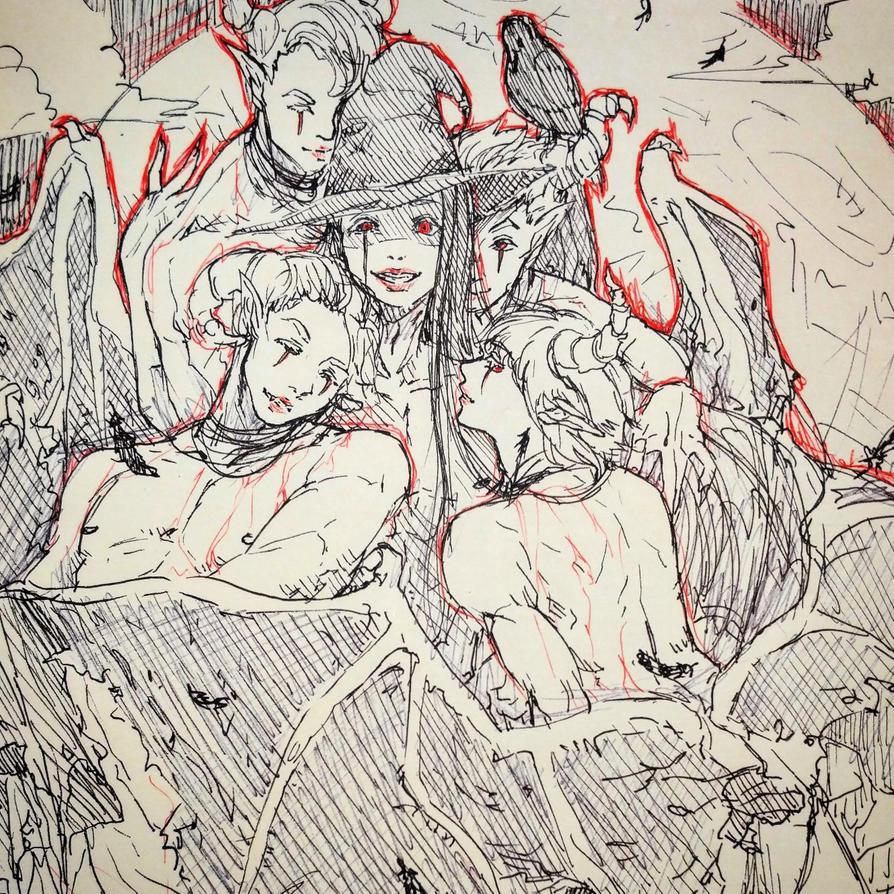 Inktober Demons by CrymsonFire