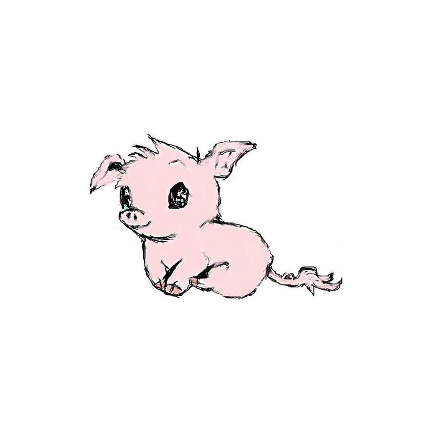 Cute Pigs Drawing Cute Pig by Mangalily
