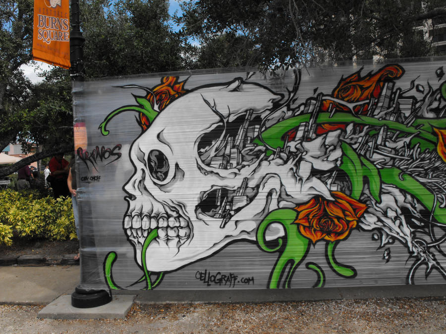 Graffiti Skull by SylviaAcosta