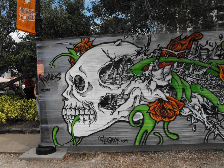 Graffiti Skull by SylviaAcosta