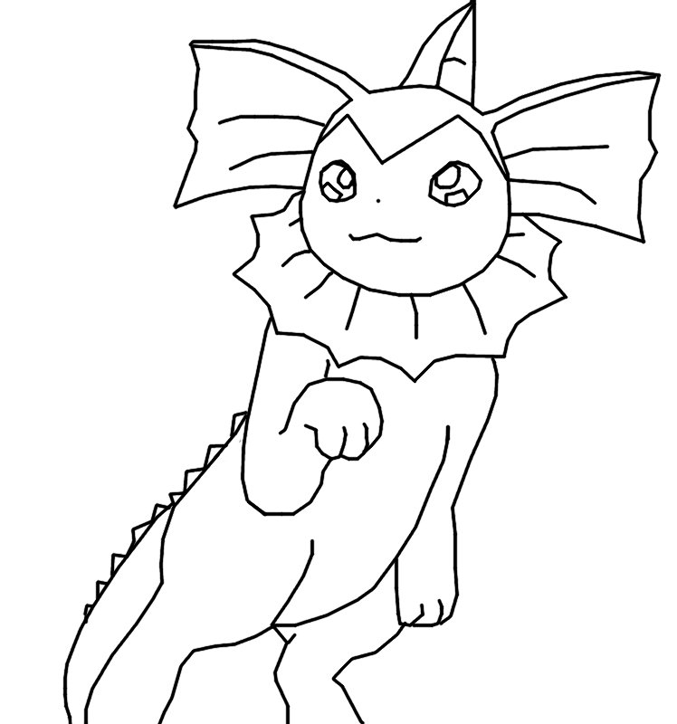 pokemon vaporeon coloring pages - photo#15