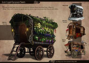 The Caravan Shops by Somatrasiel