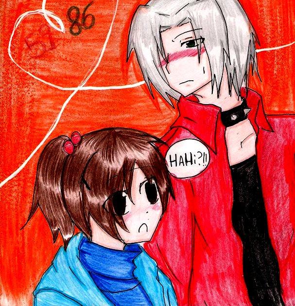.:: Hahi? ::. ( Gokudera and Haru KHR) by chibixamuto