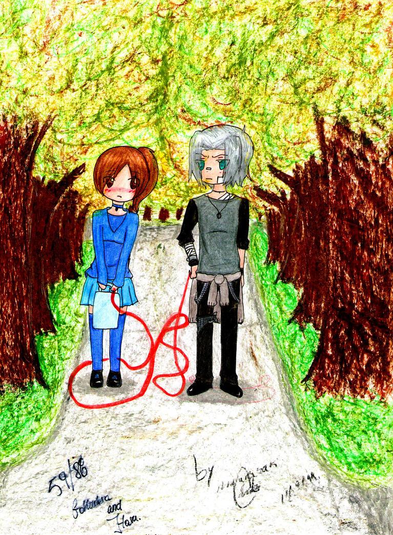 .:: Akai ito ::. (Gokudera And Haru) by chibixamuto