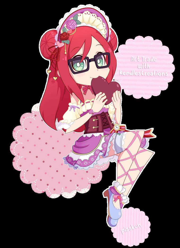 [Art Trade] Sweet Sweet Valentine by Piss-kun
