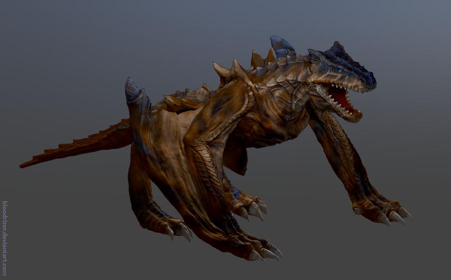 Tigrex Zbrush Sculpt By Bloodrizer On Deviantart