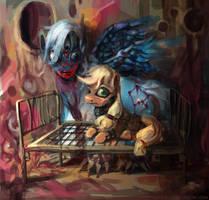 Orion Belt and Applejack by bloodrizer
