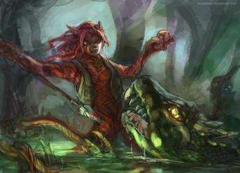 Crocodile Hunter by bloodrizer