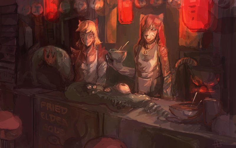 Ramen Shop by bloodrizer