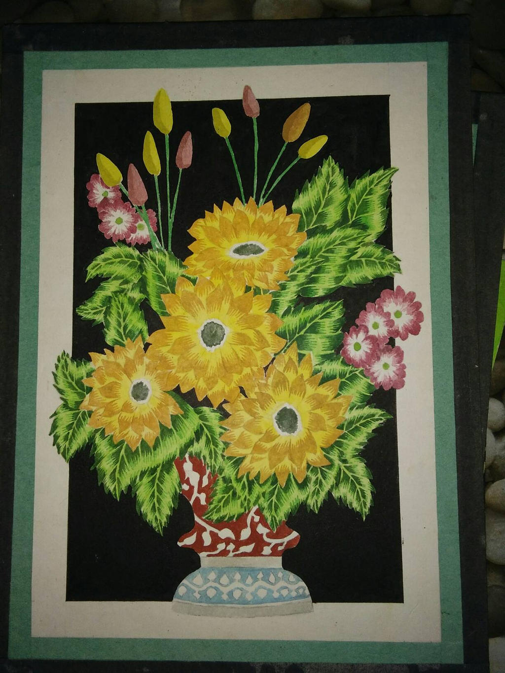 flower painting by adamyayad