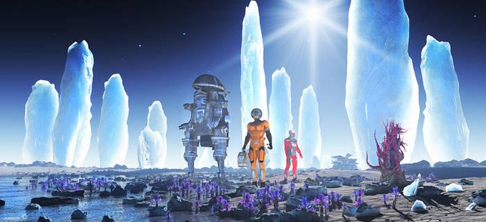 Ice monuments