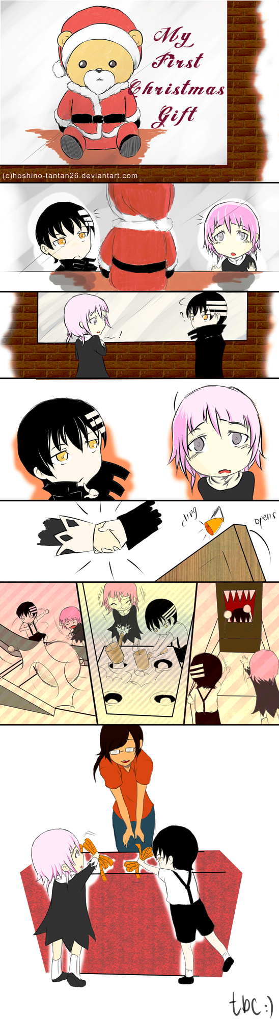 1st Xmas Gift 1(colored) by sBeatriz26