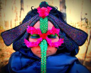 Dragonfly Mask by sarahredhead