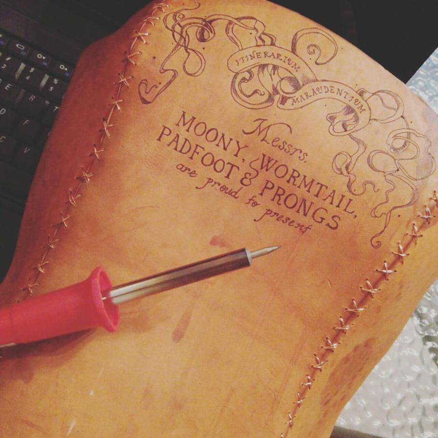 beginning Marauder's Map corset by sarahredhead