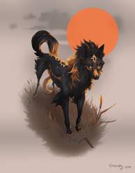 Canine YCH - Ishan by Charaky