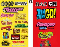 My Good Cartoon Network VS. Bad Cartoon Network