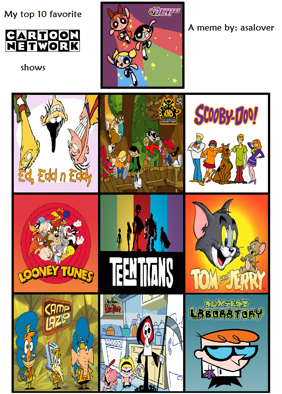 My Top 10 Favorite Cartoon Network Shows By Beewinter55 On Deviantart