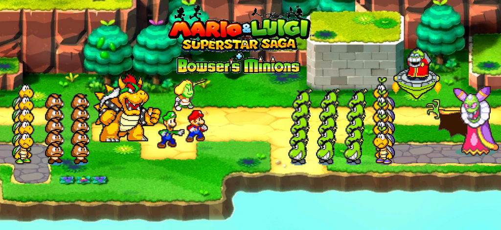 369 M And L Superstar Saga And Bowser S Minions By Beewinter55 On