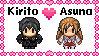 Kirito x Asuna stamp (2) by BeeWinter55