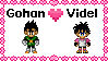 Gohan x Videl stamp