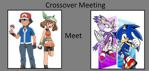 Ash and May meets Sonic and Blaze