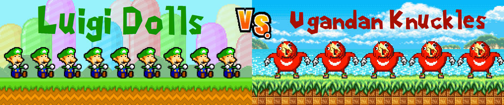 Luigi Dolls vs Ugandan Knuckles