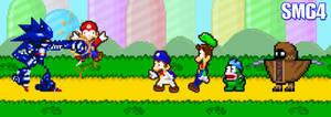 Mecha Sonic in SMG4