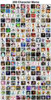 My 200 Favorite Characters