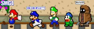 SMG4 chasing Mario