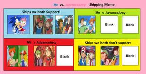 Me vs AdvanceArcy shipping meme