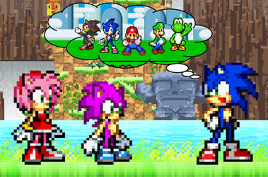 Sonic tells Amy and Speed about his SMBZ adventure by BeeWinter55