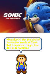 Reaction of Sonic Movie 2019 by BeeWinter55