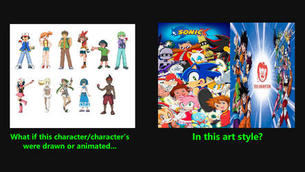 Poke characters in Sonic X or Toei Animation style by BeeWinter55