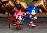 Sonic and PowerRose running