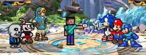 Steve joins Smash Bros!