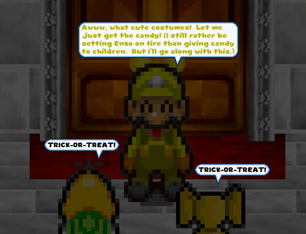 SM64 Halloween 2012: Trick or Treaters scene