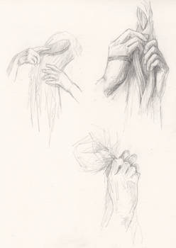 Hands on hair