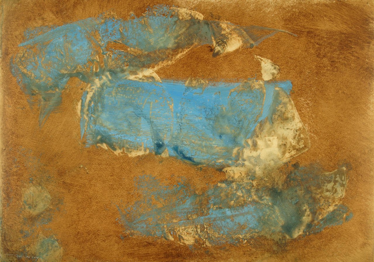 Abstract Brown and Blue
