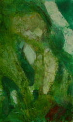 Abstract Emerald in the rough