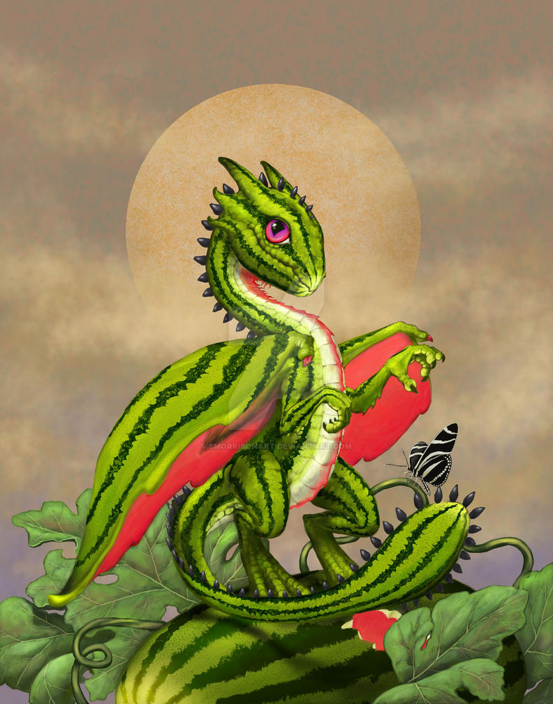Image result for watermelon dragon