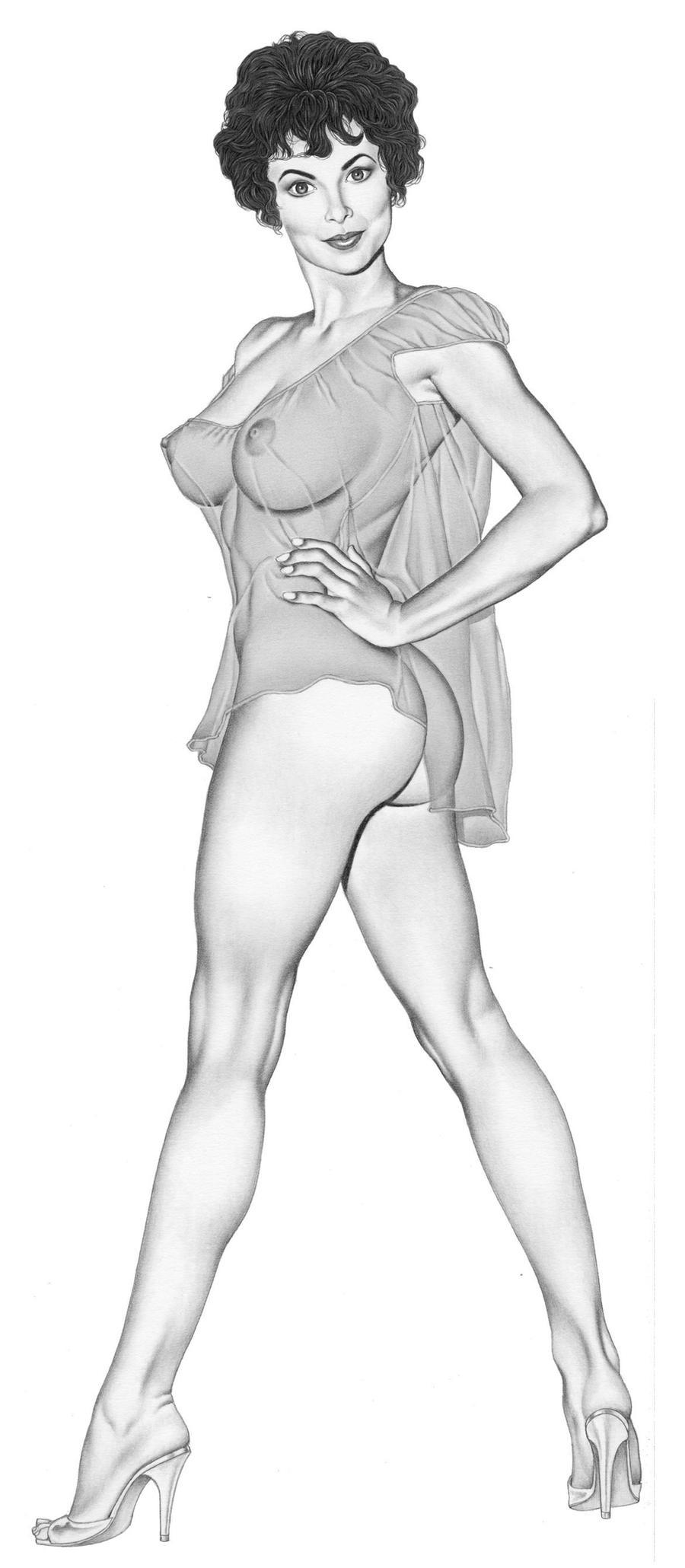 Рисуем девушку голую 1 фотография