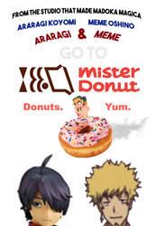 Araragi and Meme go to Mister Donut
