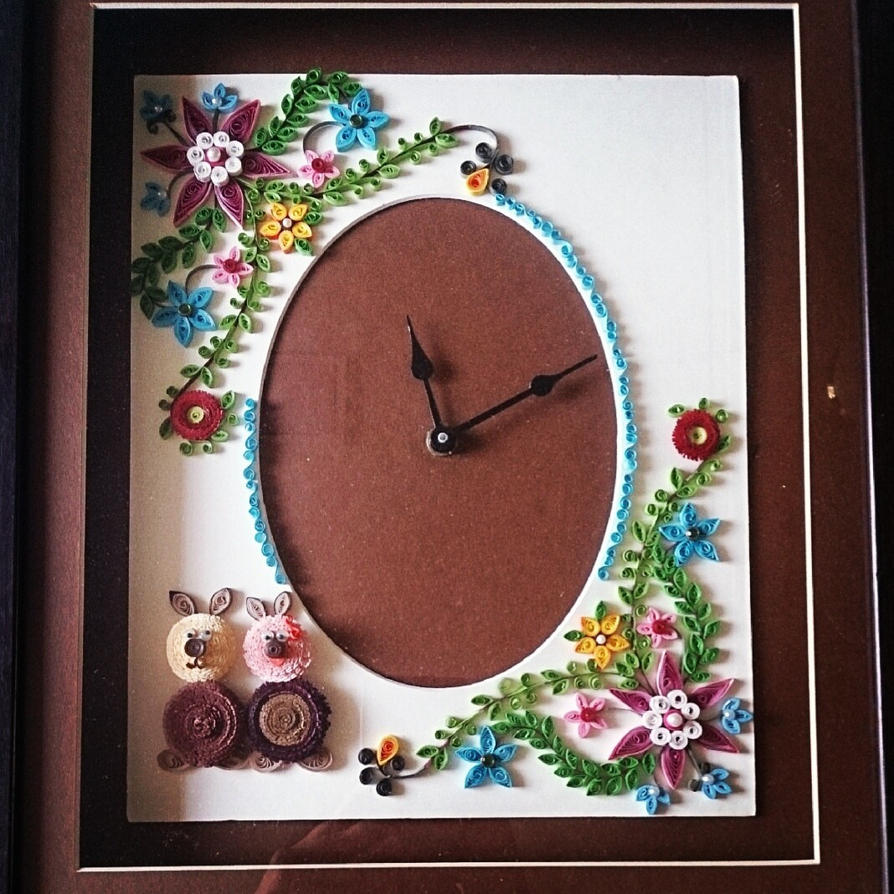 Paper Quilling Wall Clock By Janhavik On Deviantart