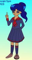 Faith in New School Uniform