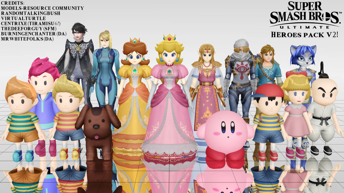 MMD - SSBU Heroes Pack -V2 UPDATE- by junk-hoes on DeviantArt