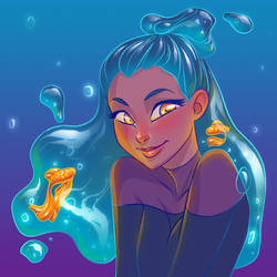 goldfish in my style by Kisarra