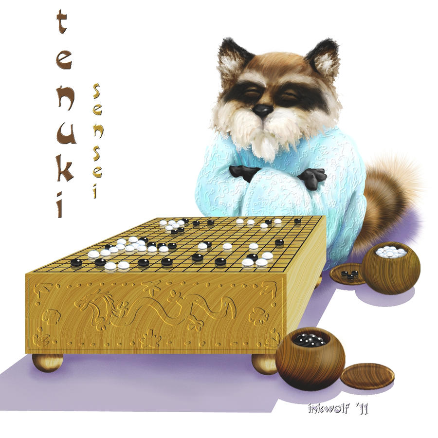 Tenuki-Sensei by inkwolf