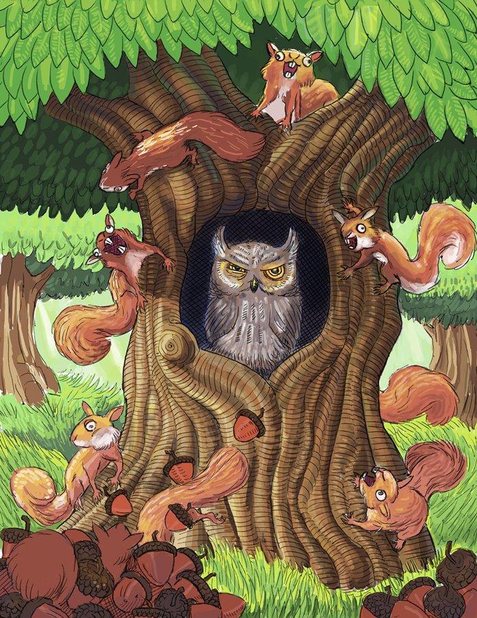 god damn squirrels by vonnbriggs