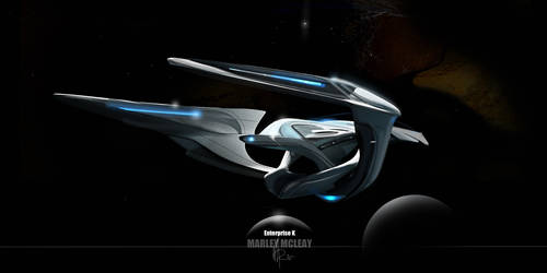 USS Enterprise K render rear 3/4