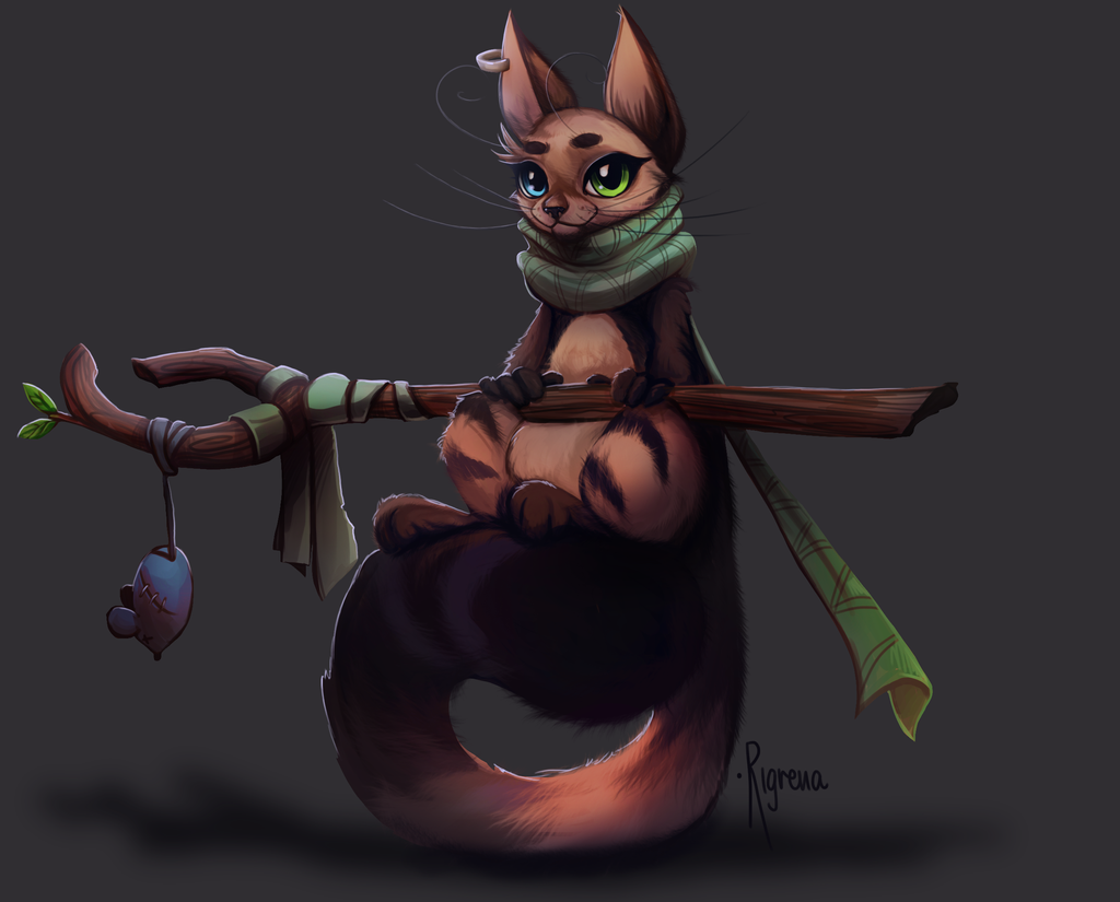 Cat Monk by Rigrena